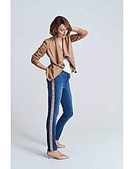 Blue Snake Side Sadie Slim Leg Jeans