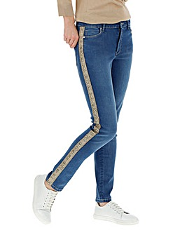 Blue Snake Side Sadie Slim Leg Jeans