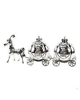 Silver Plated Tooth & Curl Carriage