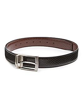 Black/Brown Reversible Leather Belt