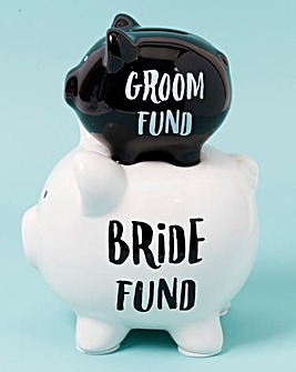 Bride & Groom Piggys Saving Fund