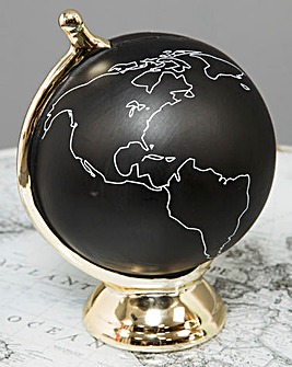 Metal Globe with Wooden Base 27cm