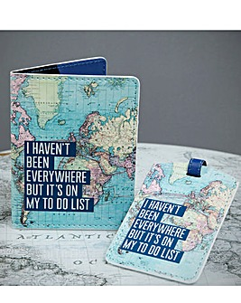 To Do List Passport Cover & Luggage Tag