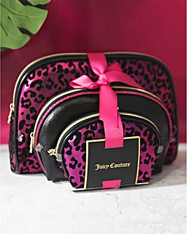 Juicy Couture Set 3 Cosmetic Cases