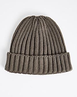 Grey Fisherman Beanie Hat