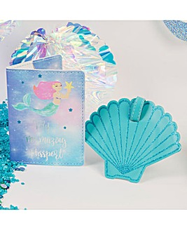 Mermaid Shell Passport & Luggage Tag