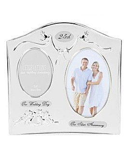 Two-Tone Double Anniversary Photo Frame