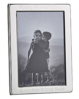 Personalised Silver Plated Photo Frame