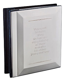 Personalised Silver Finish Photo Album