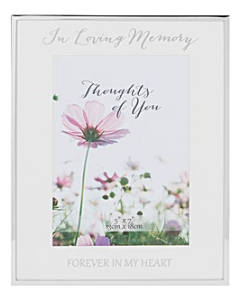Silver Plated Loving Memory Photo Frame
