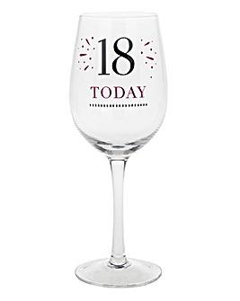 Special Birthday Wine Glass