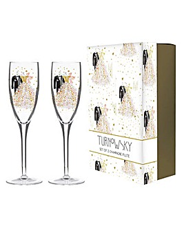 Turnowsky Gift Boxed Wedding Flutes