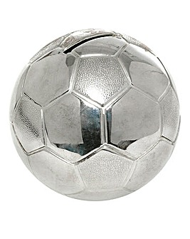 Silver Plated Football Money Bank