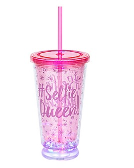 Flamingo LED Party Cooler Cup With Straw