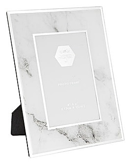 Marble 4x6 Mirror Photo Frame
