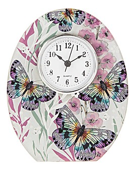Butterfly Glass Clock