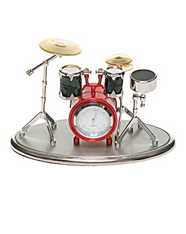 Miniature Drum Kit Clock