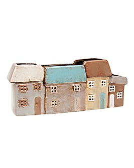 Village Pottery Houses Planter