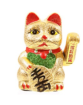 Japanese Lucky Maneki Neko Waving Cat