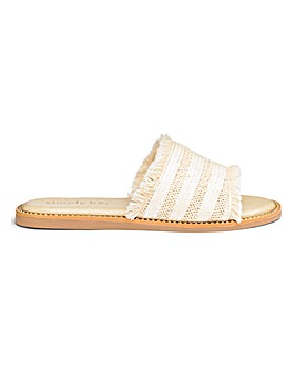 Carine Textile Mule Extra Wide Fit