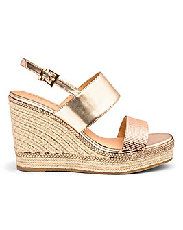 Vivienne Espadrille High Wedge Ext Wide