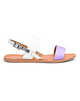 Claudia Two Strap Sandal Wide Fit