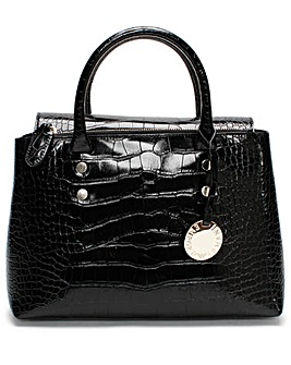 Emporio Armani Croc Fold Over Tote Bag