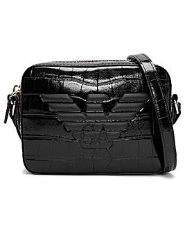 Emporio Armani Croc Camera Bag