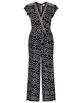 Monsoon MARTHA V NECK JERSEY JUMPSUIT