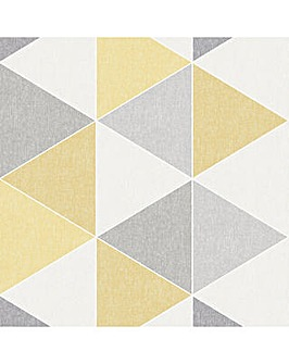 Linen Triangles Yellow and Grey WP