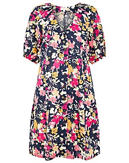 Monsoon LINEN PRINT DRESS
