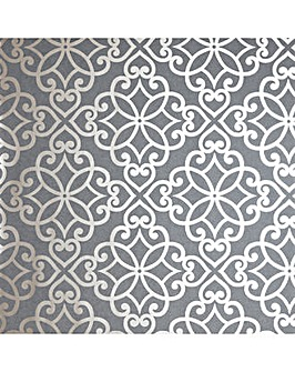 Ornate Motif Charcoal/Rose Gold WP