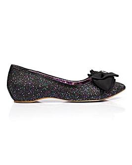 Irregular Choice Mint Slice Pointed Toe Ballerinas Standard Fit