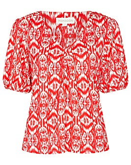 Monsoon Ikat Print Jersey Top