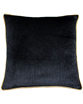 Piped Velvet Poly Cushion
