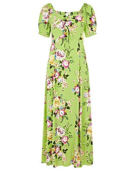 Monsoon GREEN FLORAL SWEETHEART DRESS
