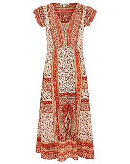 Monsoon HELI HERITAGE PRINT MIDI DRESS