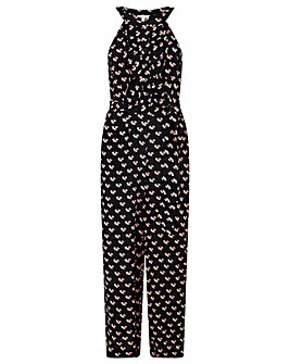 Monsoon FLORAL PRINT WIDE LEG JUMPSUIT