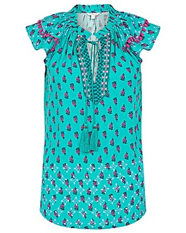 Monsoon ROOPA NON PRINT EMBROIDERED TOP