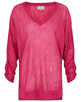 Monsoon V Neck Gathered Jumper