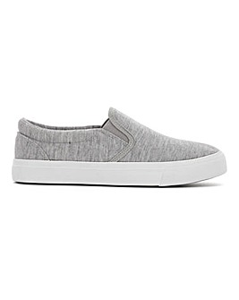 Pia Canvas Slip On Extra Wide Fit
