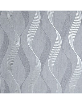 Luxe Ribbon Charcoal/Silver WP