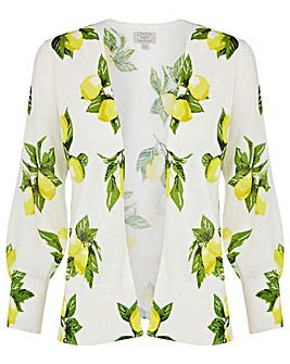 Monsoon Lemon Print Cardigan