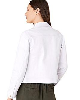 Monsoon Willow White Denim Jacket