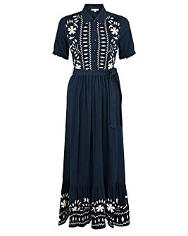 Monsoon HERITAGE EMBROIDERED MAXI DRESS