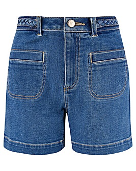 Monsoon Plait Waistband Denim Short
