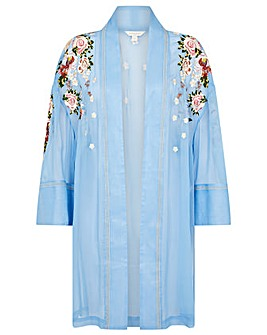 Monsoon EMBROIDERED LONGLINE KIMONO