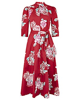 Monsoon Robyn Rose Floral Shirt Dress