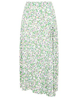 Monsoon FLORAL ROUCH SKIRT