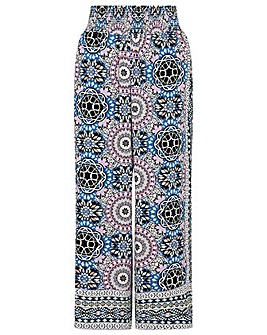 Monsoon LEIGHTON GEO WIDE LEG TROUSER